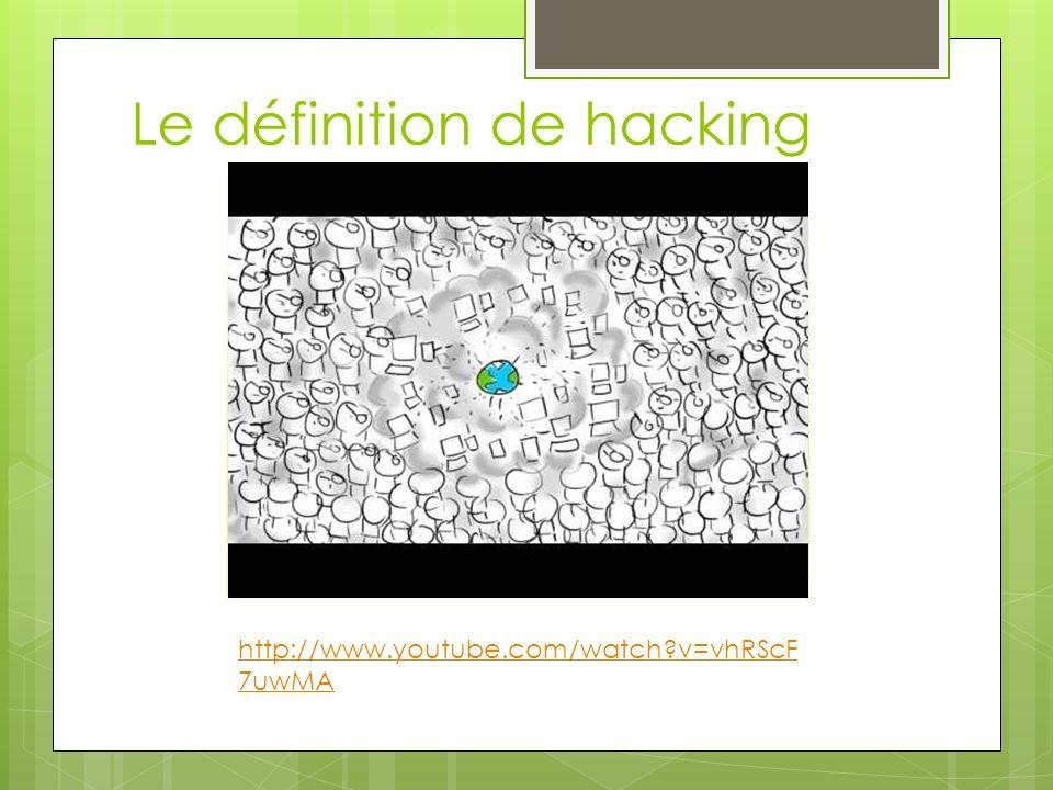 Le définition de hacking