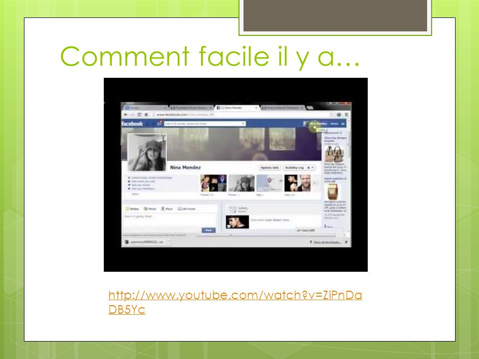 Comment facile il y a… http://www.youtube.com/watch v=ZiPnDaDB5Yc