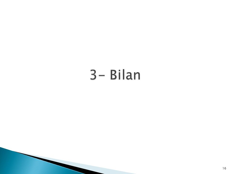 3- Bilan