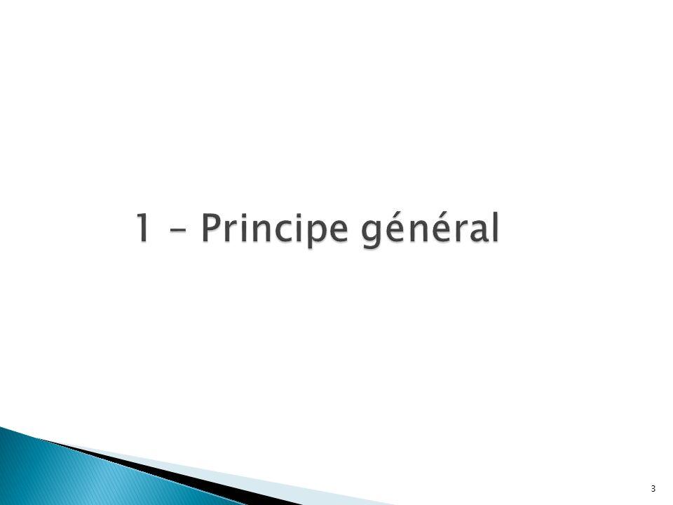 1 – Principe général