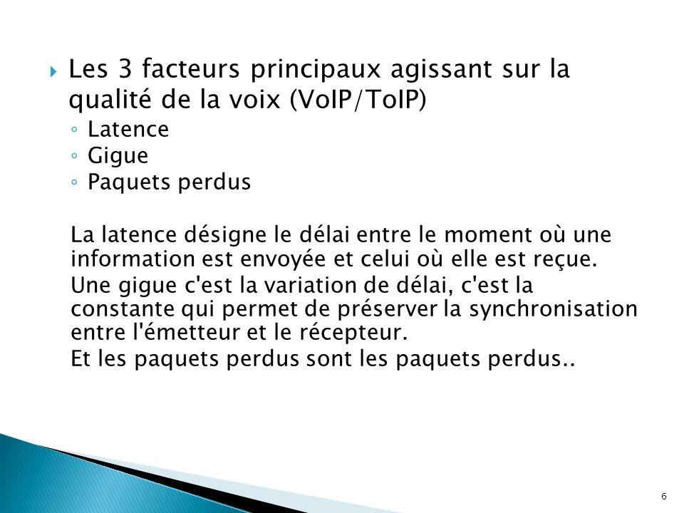Les 3 facteurs principaux agissant sur la qualité de la voix (VoIP/ToIP)