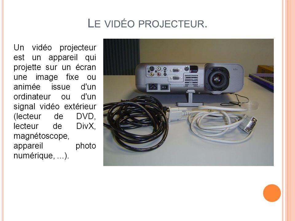 Le vidéo projecteur.