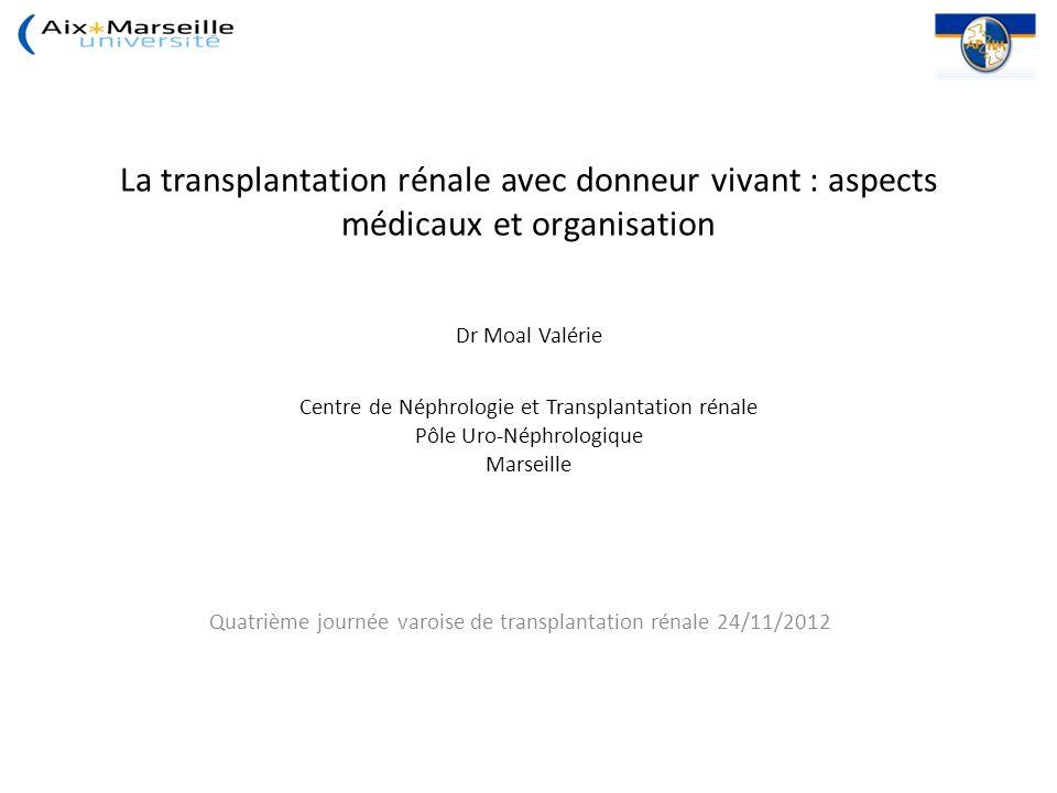 Quatrième journée varoise de transplantation rénale 24/11/2012