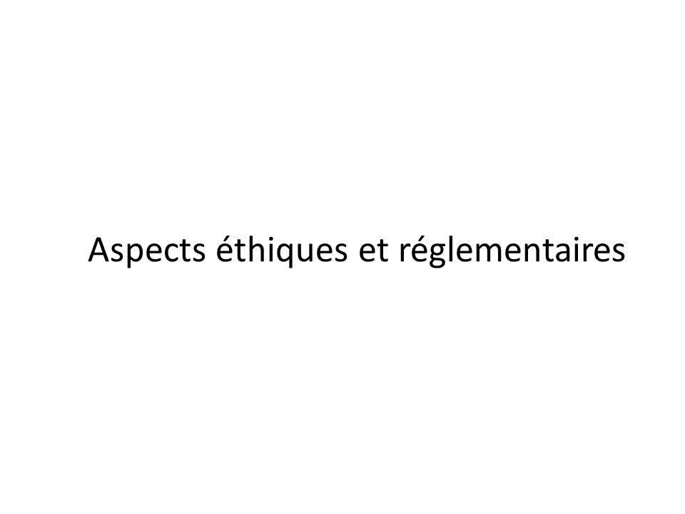 Aspects éthiques et réglementaires