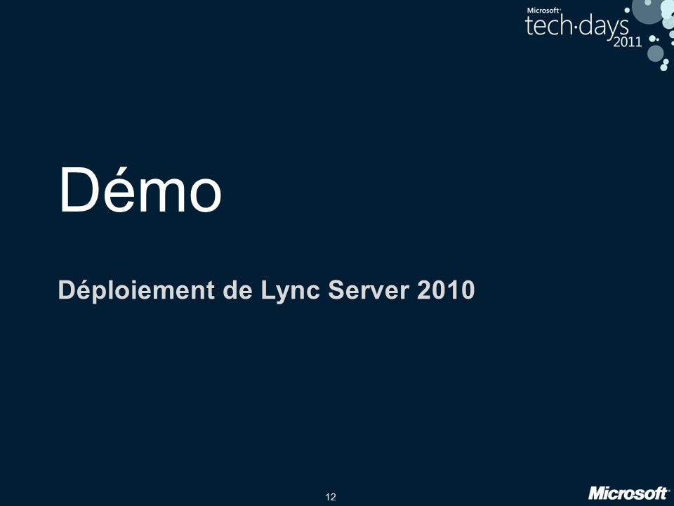 Déploiement de Lync Server 2010