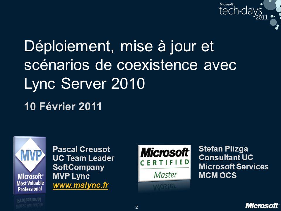 Pascal Creusot UC Team Leader SoftCompany MVP Lync www.mslync.fr