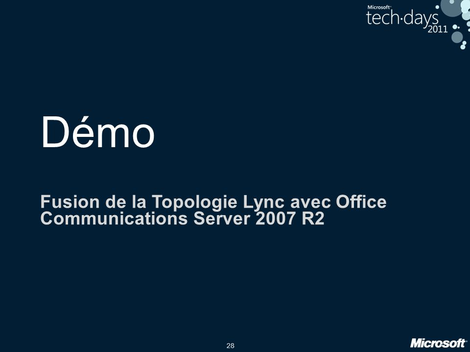 Fusion de la Topologie Lync avec Office Communications Server 2007 R2