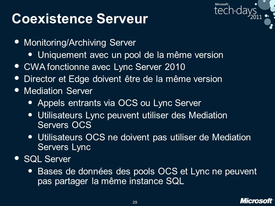 Coexistence Serveur Monitoring/Archiving Server