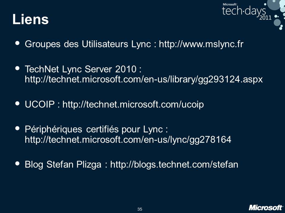 Liens Groupes des Utilisateurs Lync : http://www.mslync.fr