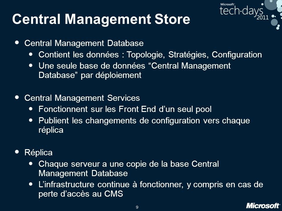 Central Management Store
