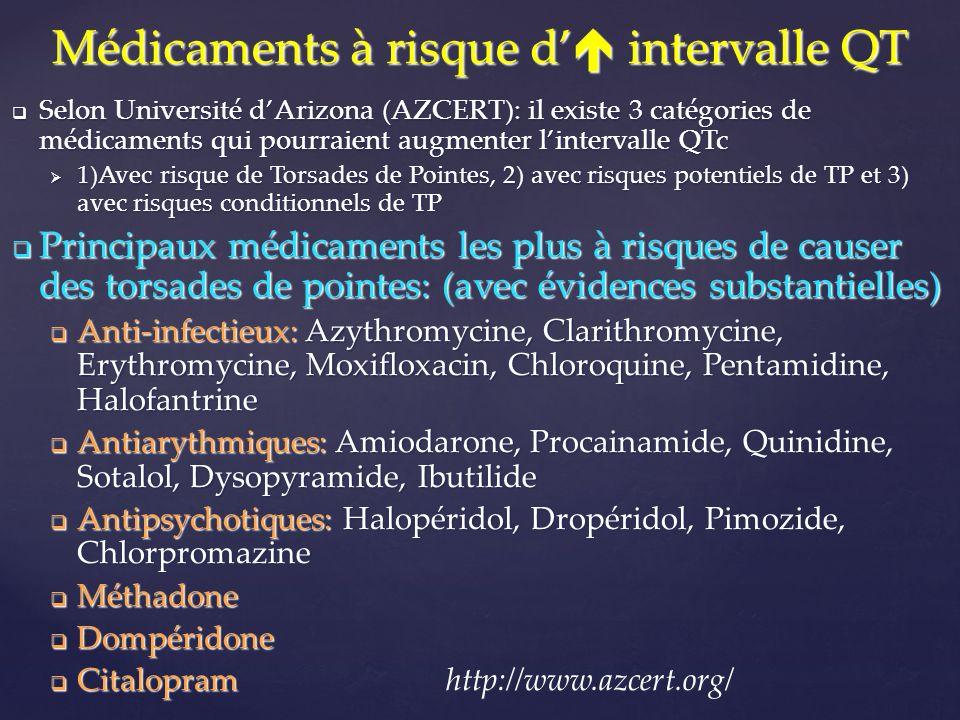 Médicaments à risque d' intervalle QT