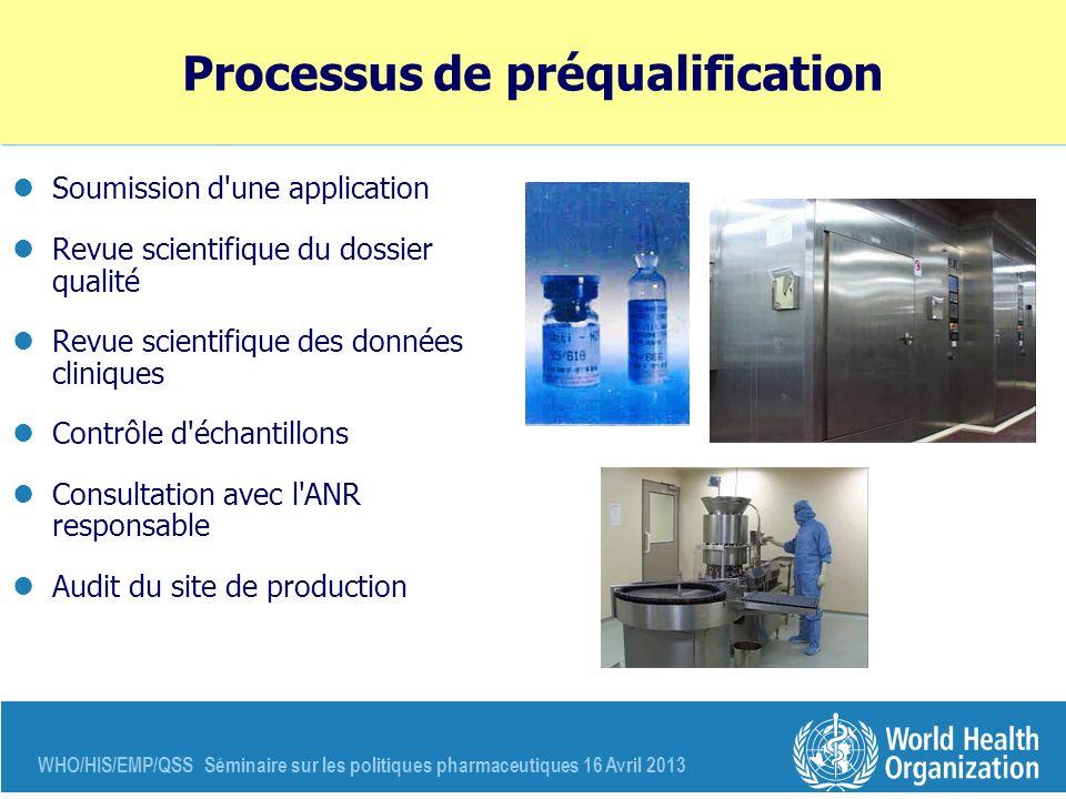 Processus de préqualification