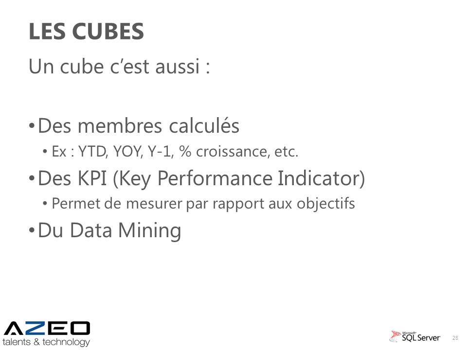 Les Cubes Un cube c'est aussi : Des membres calculés