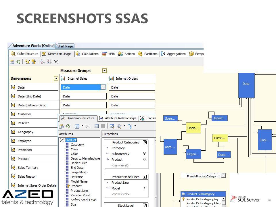 Screenshots SSAS