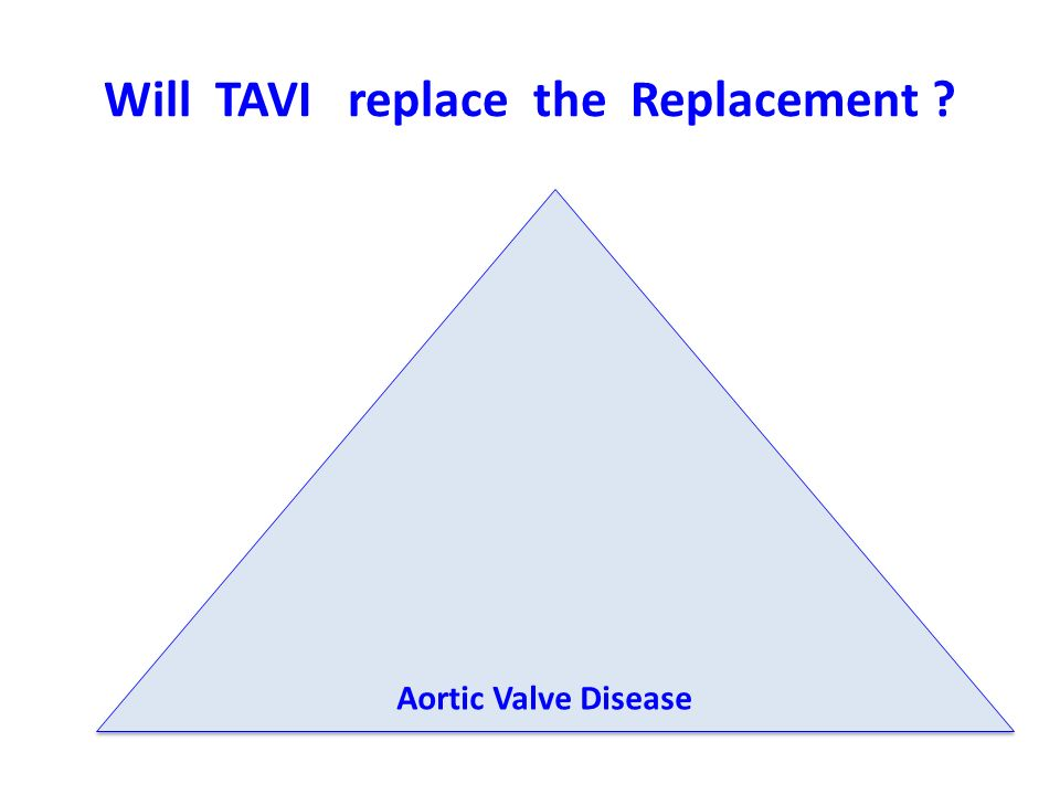 Will TAVI replace the Replacement