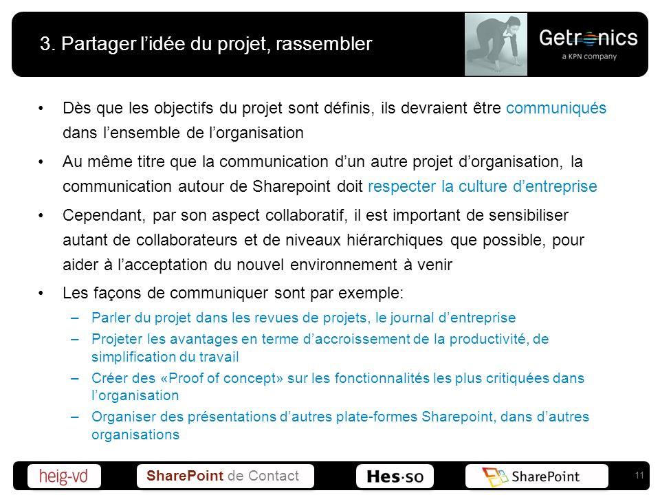 3. Partager l'idée du projet, rassembler