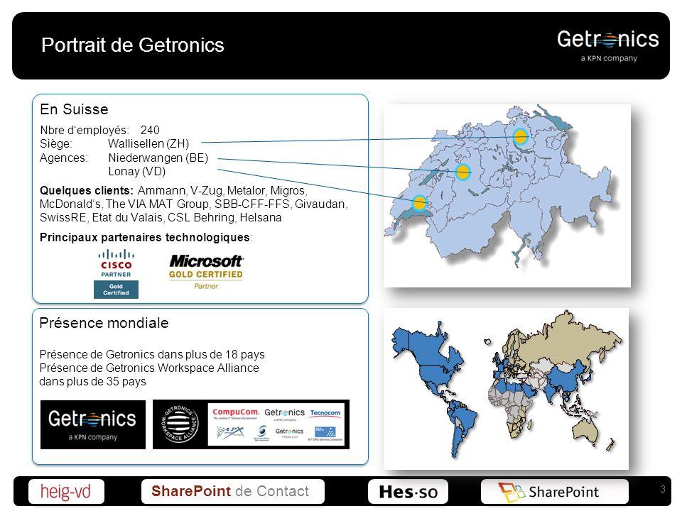 Portrait de Getronics En Suisse Présence mondiale