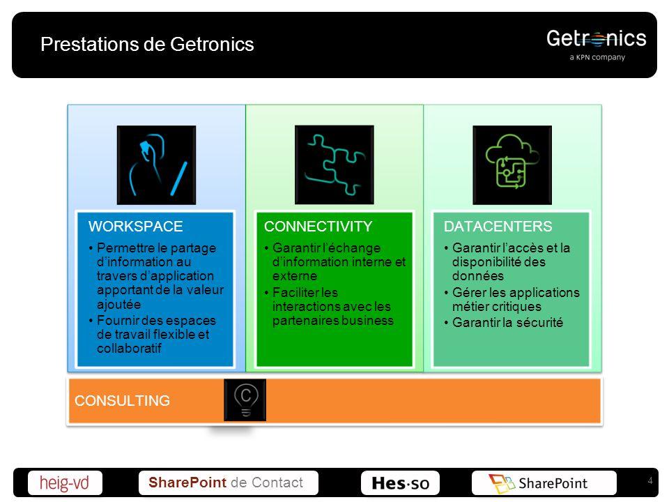 Prestations de Getronics