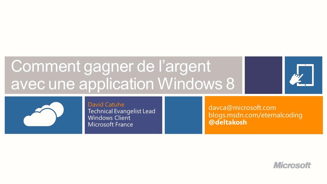 Comment gagner de l'argent avec une application Windows 8