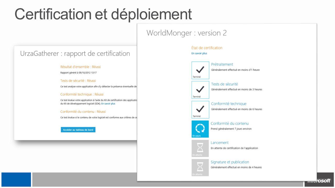 Certification et déploiement