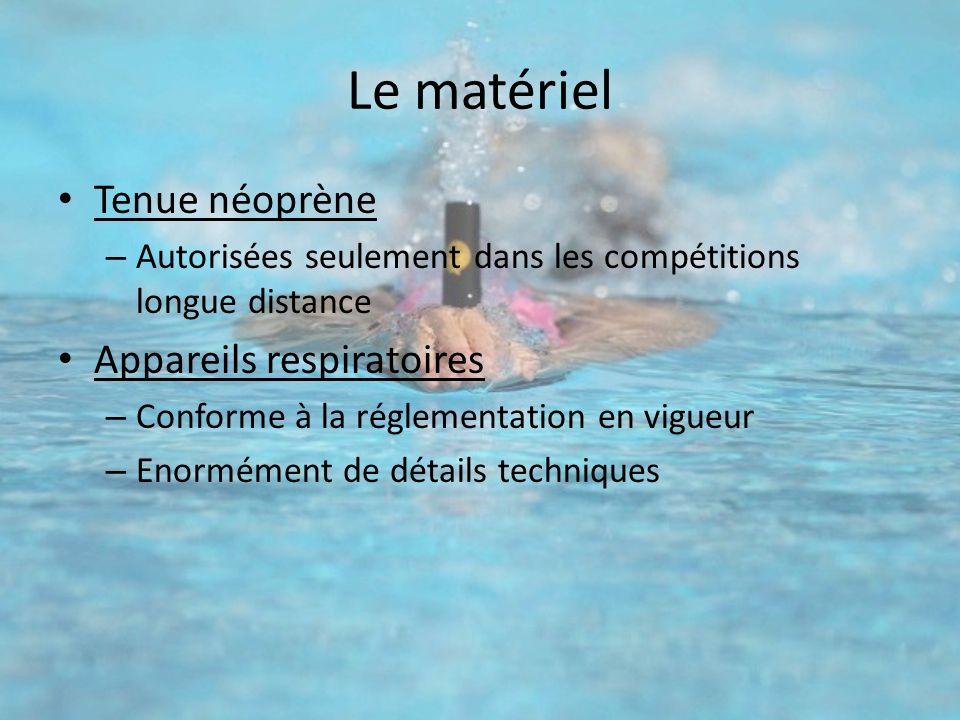 Le matériel Tenue néoprène Appareils respiratoires