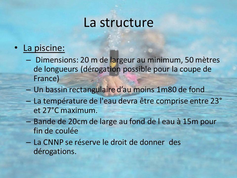 La structure La piscine: