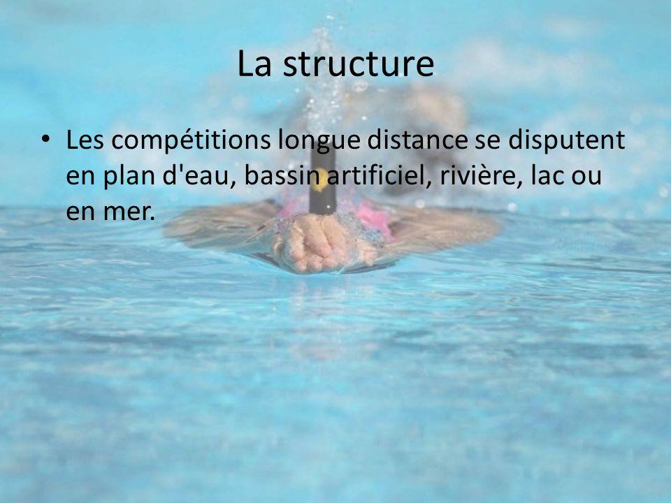La structure Les compétitions longue distance se disputent en plan d eau, bassin artificiel, rivière, lac ou en mer.