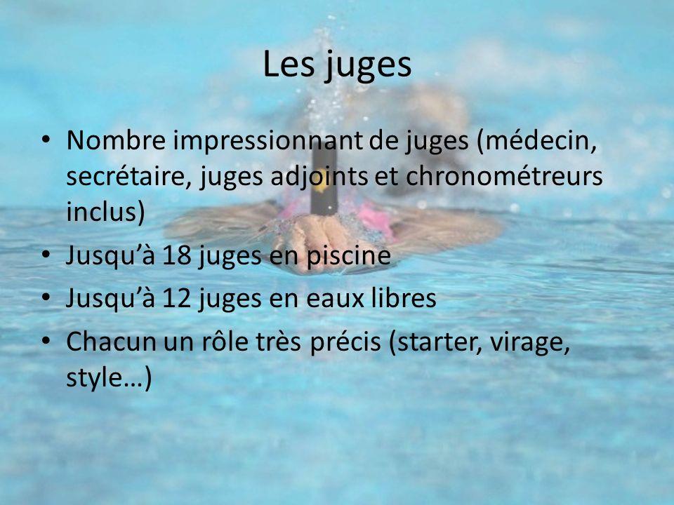Les juges Nombre impressionnant de juges (médecin, secrétaire, juges adjoints et chronométreurs inclus)