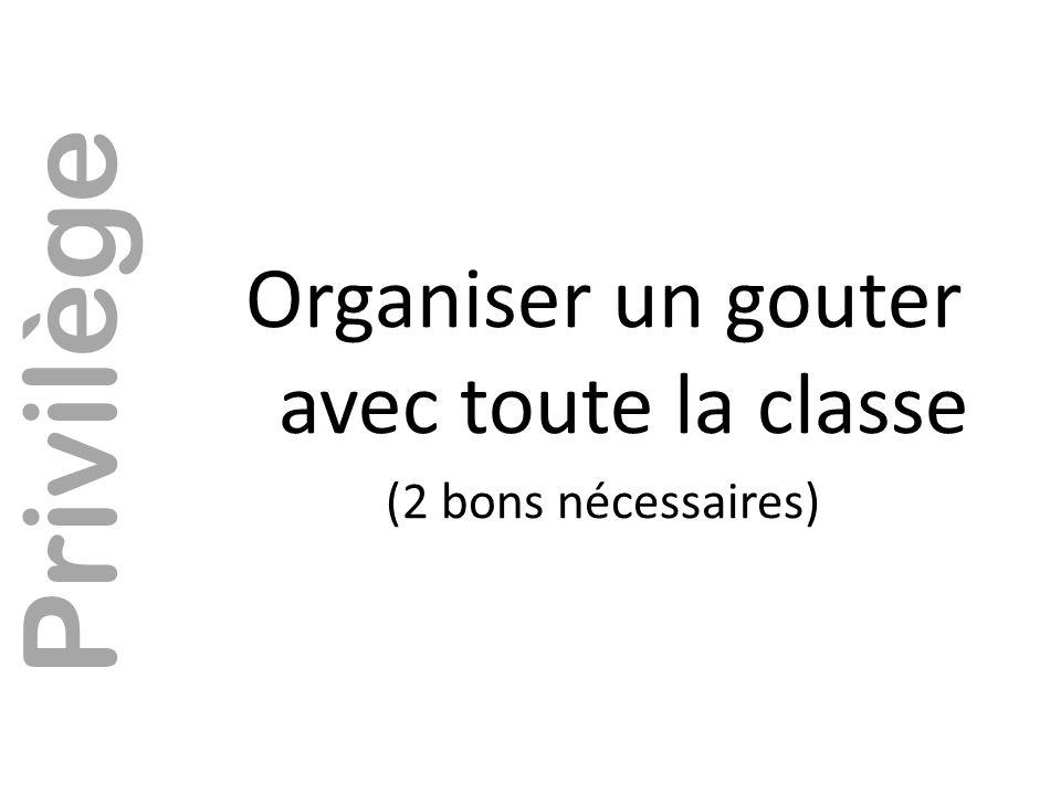 Organiser un gouter avec toute la classe