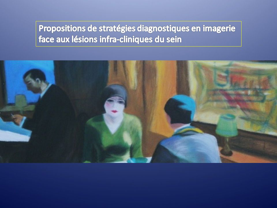 Propositions de stratégies diagnostiques en imagerie