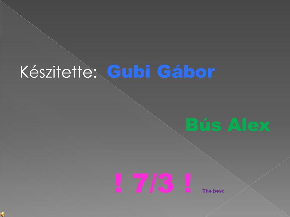 Készitette: Gubi Gábor