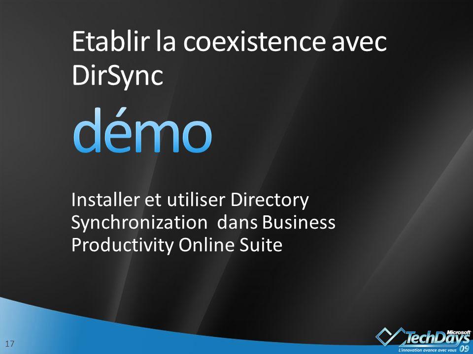Etablir la coexistence avec DirSync