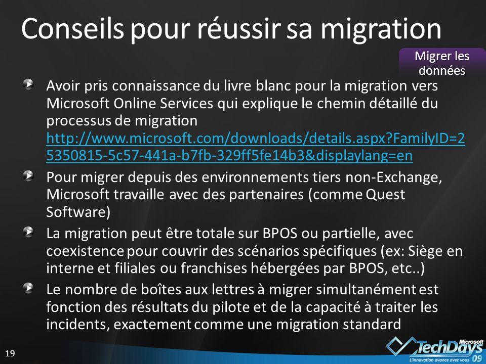 Conseils pour réussir sa migration