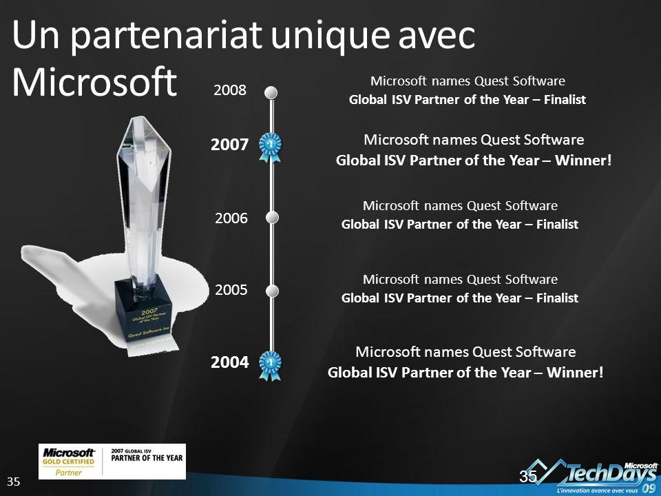 Un partenariat unique avec Microsoft