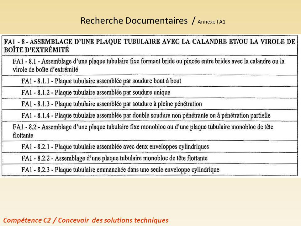 Recherche Documentaires / Annexe FA1