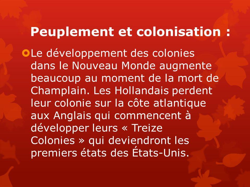 Peuplement et colonisation :
