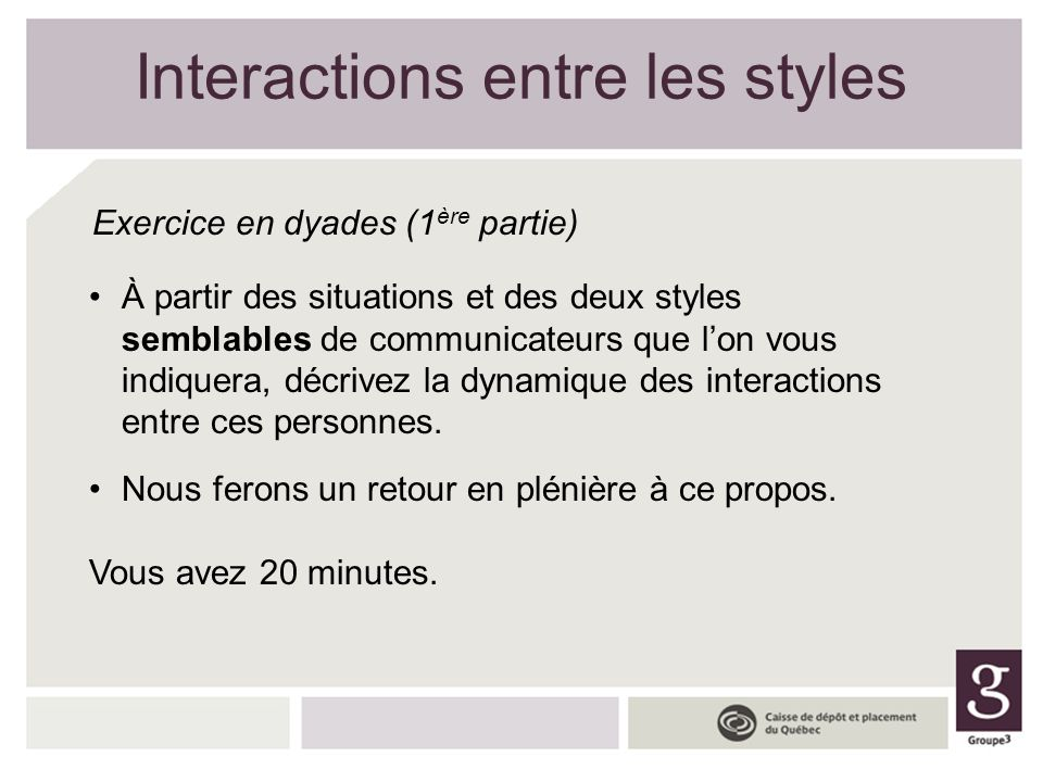 Interactions entre les styles