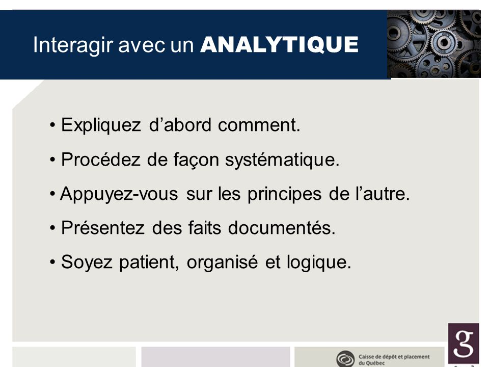Interagir avec un ANALYTIQUE