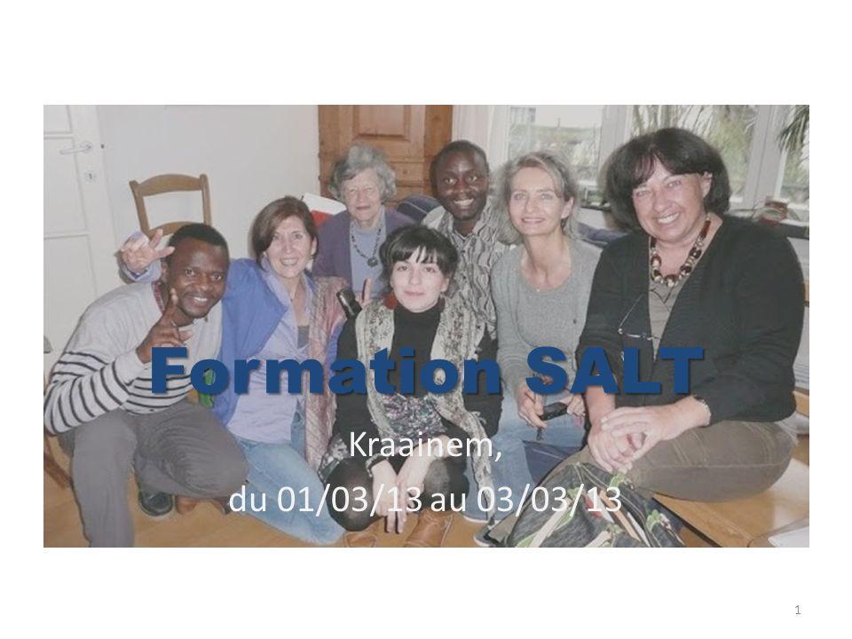 Formation SALT Kraainem, du 01/03/13 au 03/03/13