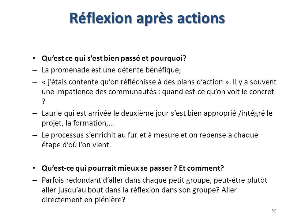Réflexion après actions