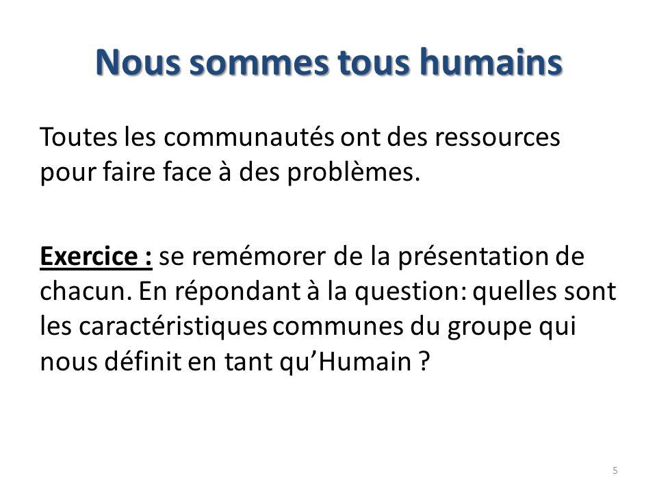 Nous sommes tous humains