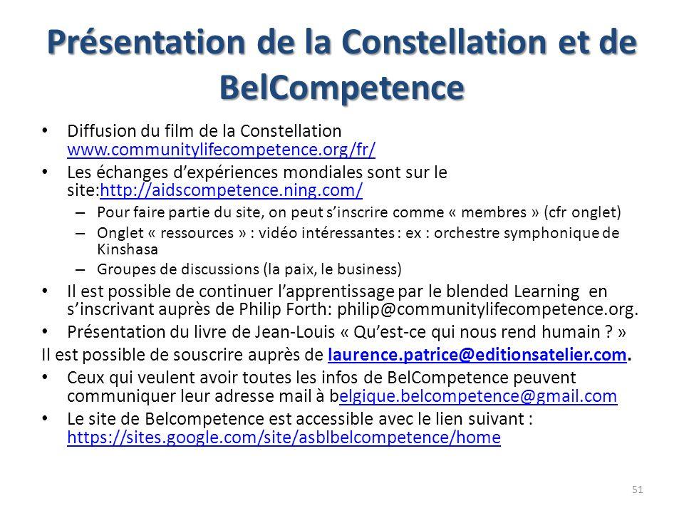 Présentation de la Constellation et de BelCompetence
