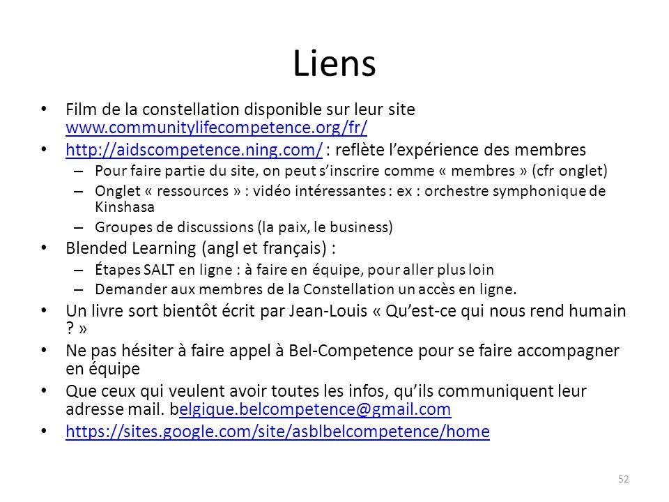LiensFilm de la constellation disponible sur leur site www.communitylifecompetence.org/fr/