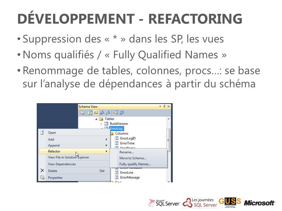 Développement - Refactoring