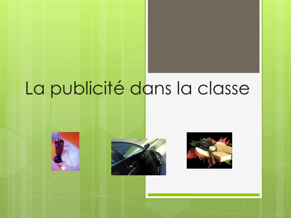 La publicité dans la classe