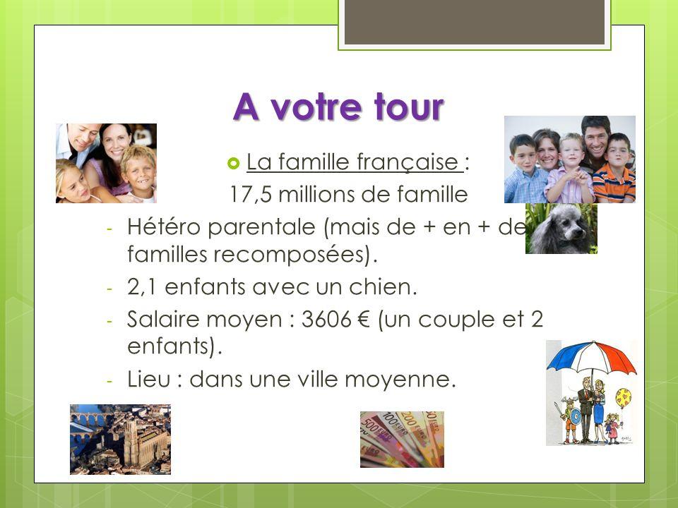 A votre tour La famille française : 17,5 millions de famille