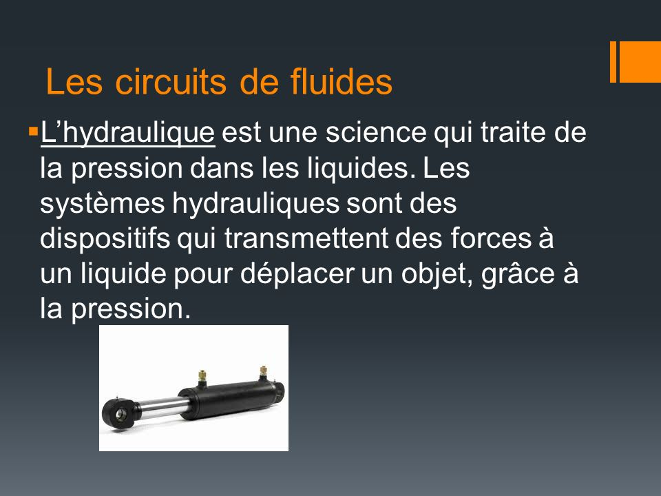 Les circuits de fluides