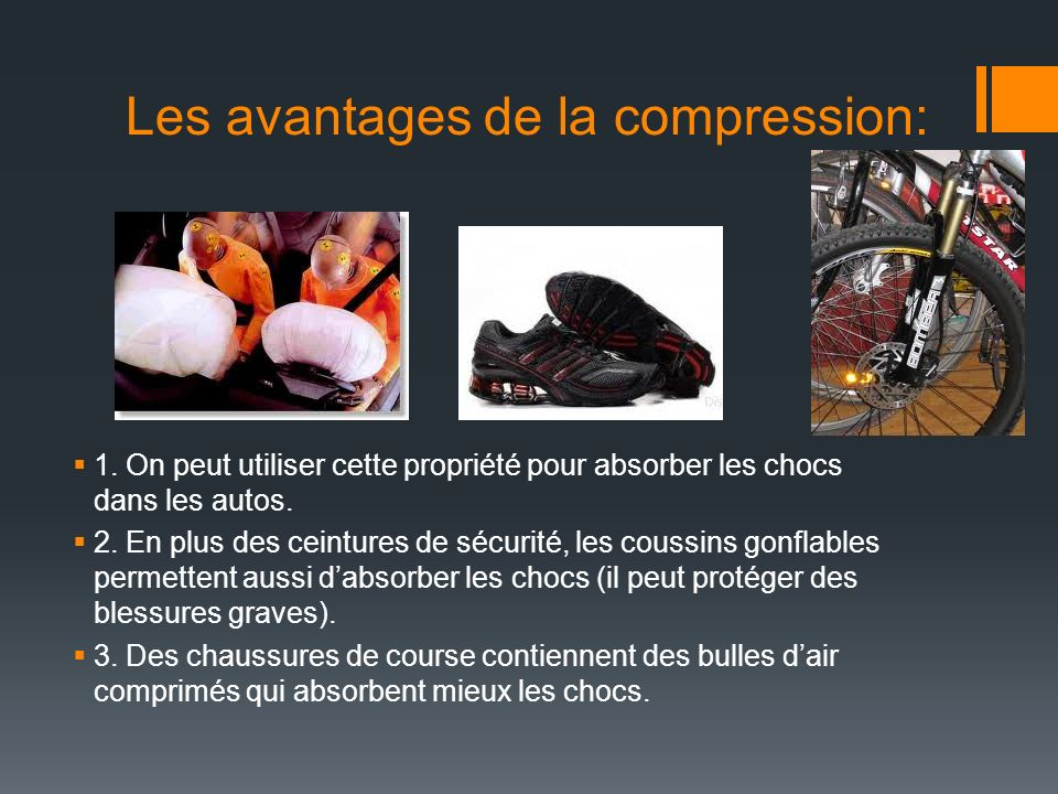 Les avantages de la compression: