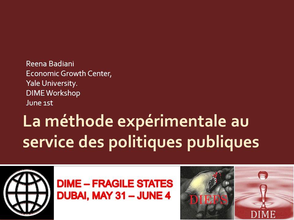 La méthode expérimentale au service des politiques publiques