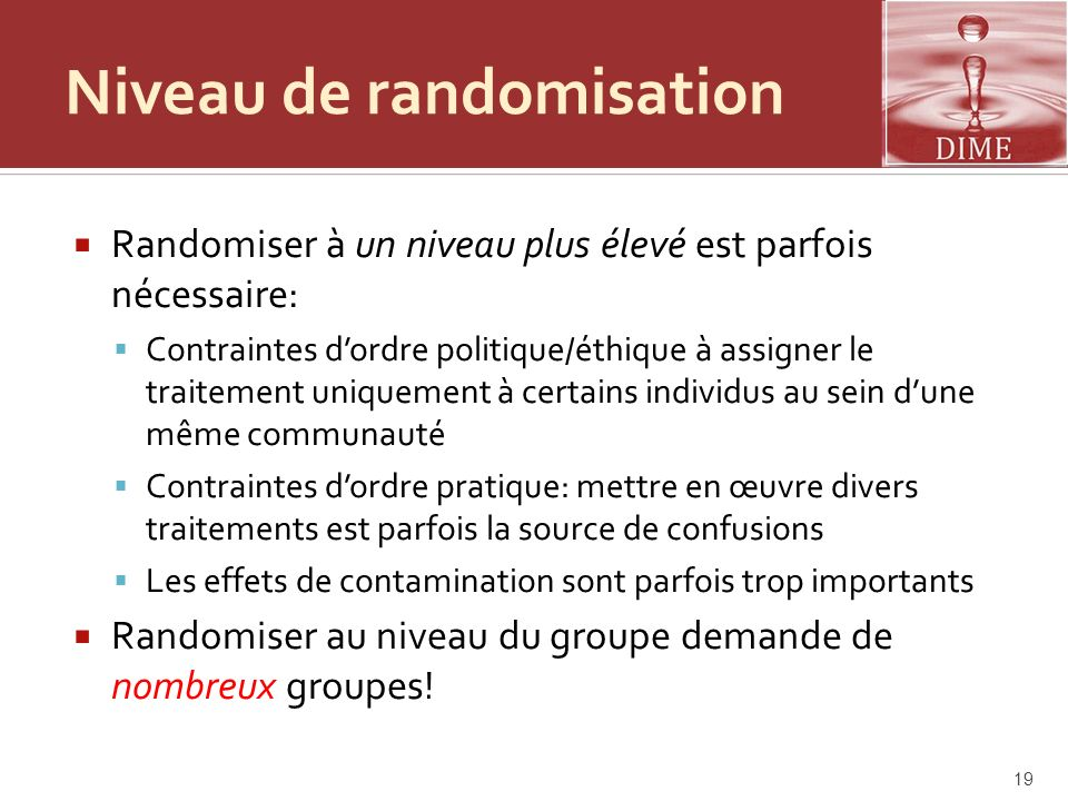 Niveau de randomisation